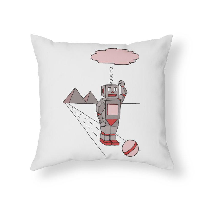 Robò Tino Home Throw Pillow by Bottone magliette