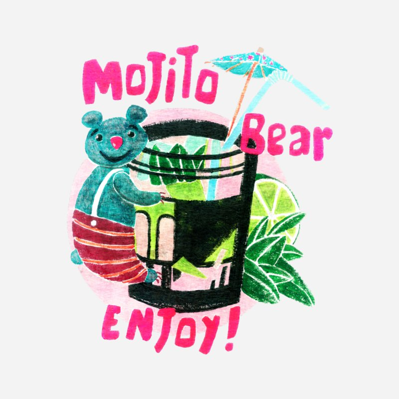 Mojito bear Women's Muscle Tank by Bottone magliette