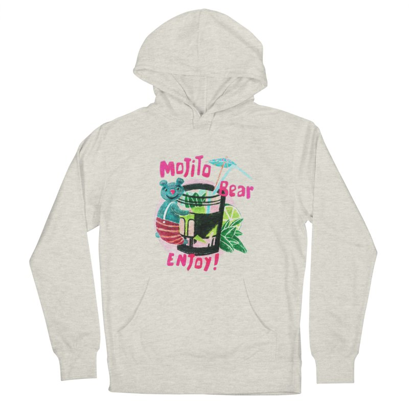 Mojito bear Men's French Terry Pullover Hoody by Bottone magliette