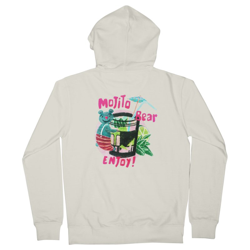 Mojito bear Men's Zip-Up Hoody by Bottone magliette