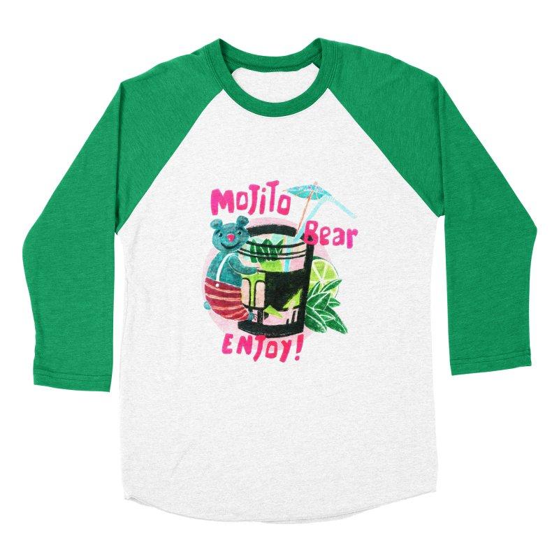 Mojito bear Women's Baseball Triblend Longsleeve T-Shirt by Bottone magliette