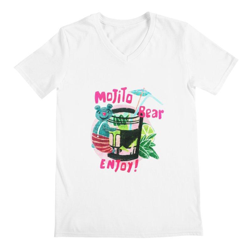 Mojito bear Men's V-Neck by Bottone magliette