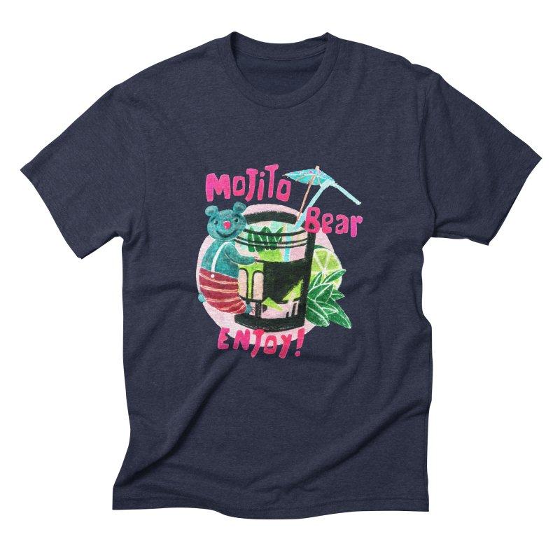 Mojito bear Men's Triblend T-shirt by Bottone magliette