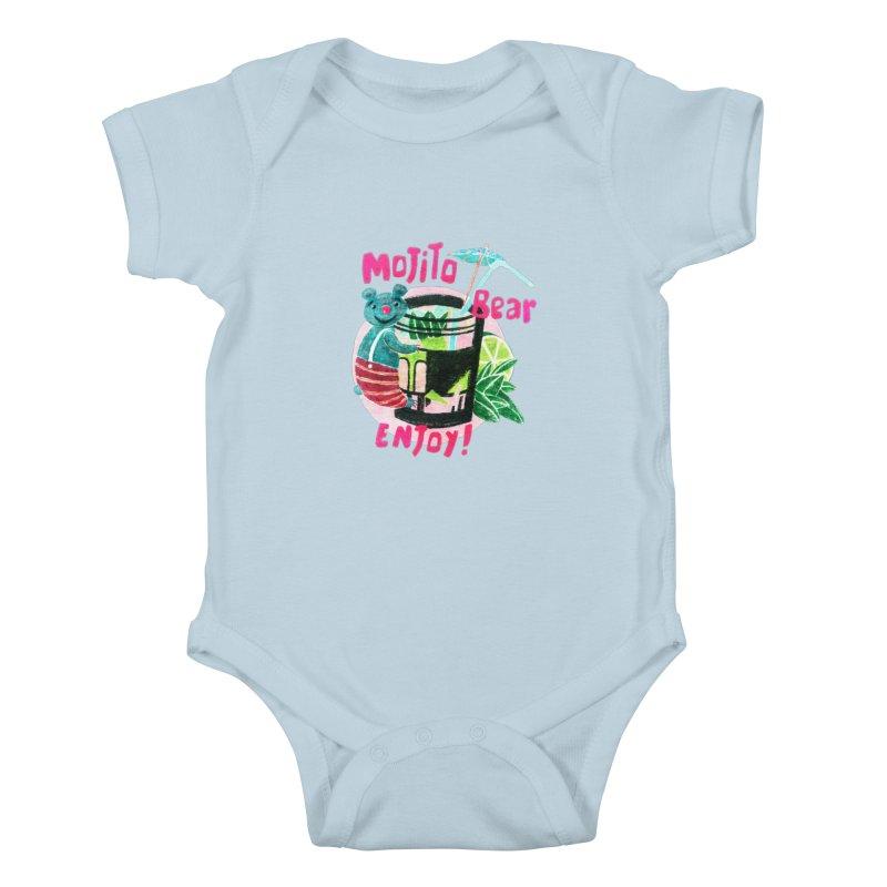 Mojito bear Kids Baby Bodysuit by Bottone magliette