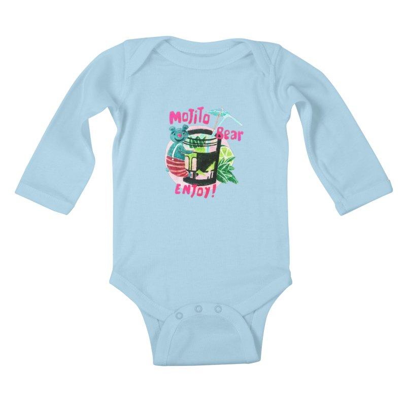 Mojito bear Kids Baby Longsleeve Bodysuit by Bottone magliette
