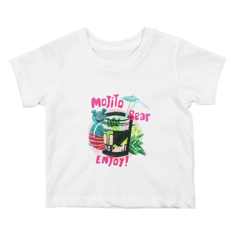 Mojito bear Kids Baby T-Shirt by Bottone magliette