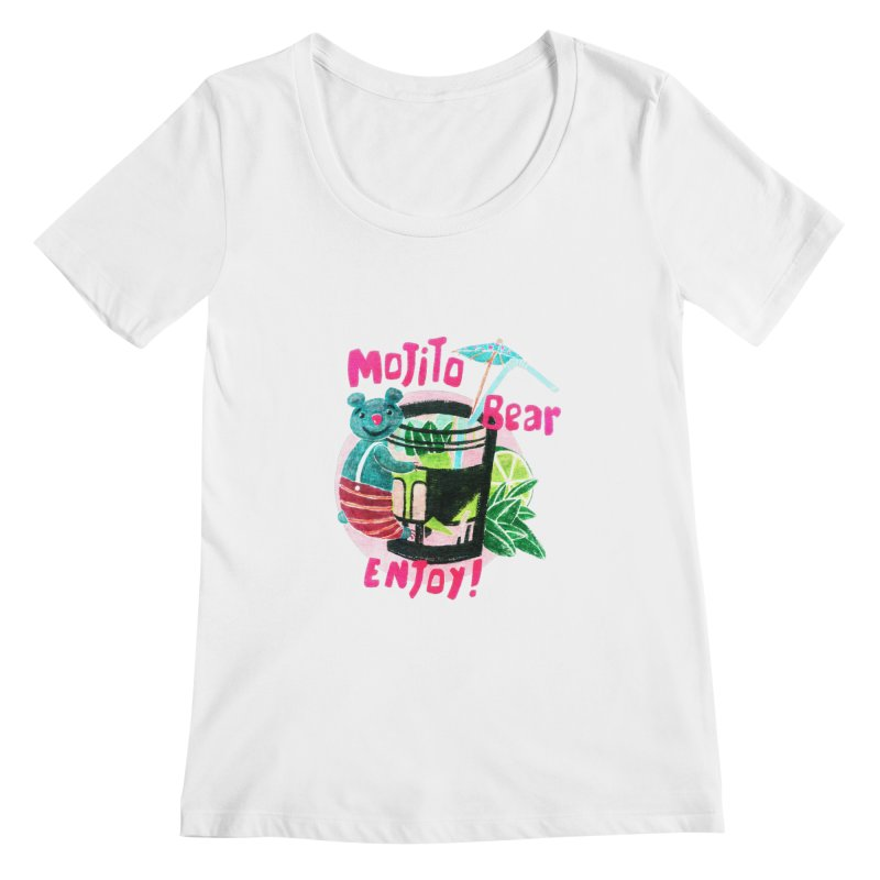 Mojito bear Women's Scoopneck by Bottone magliette