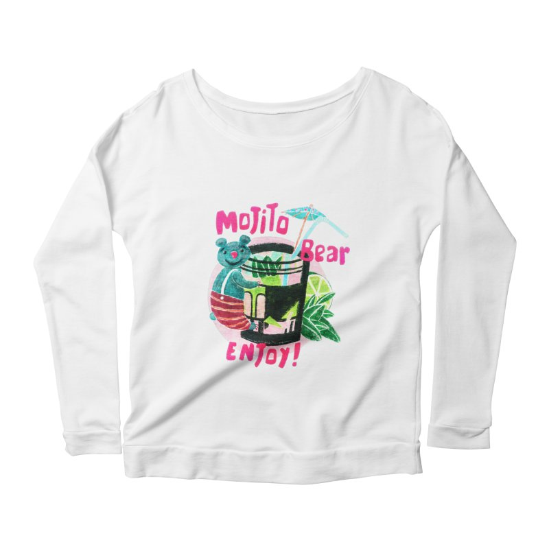 Mojito bear Women's Longsleeve Scoopneck  by Bottone magliette