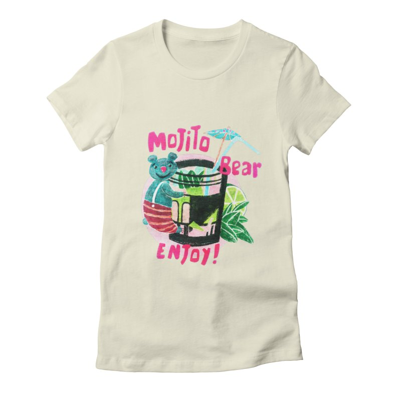 Mojito bear Women's Fitted T-Shirt by Bottone magliette