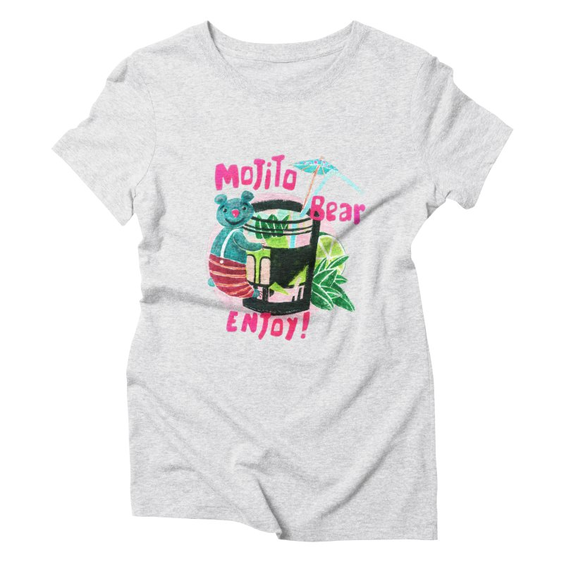 Mojito bear Women's Triblend T-Shirt by Bottone magliette