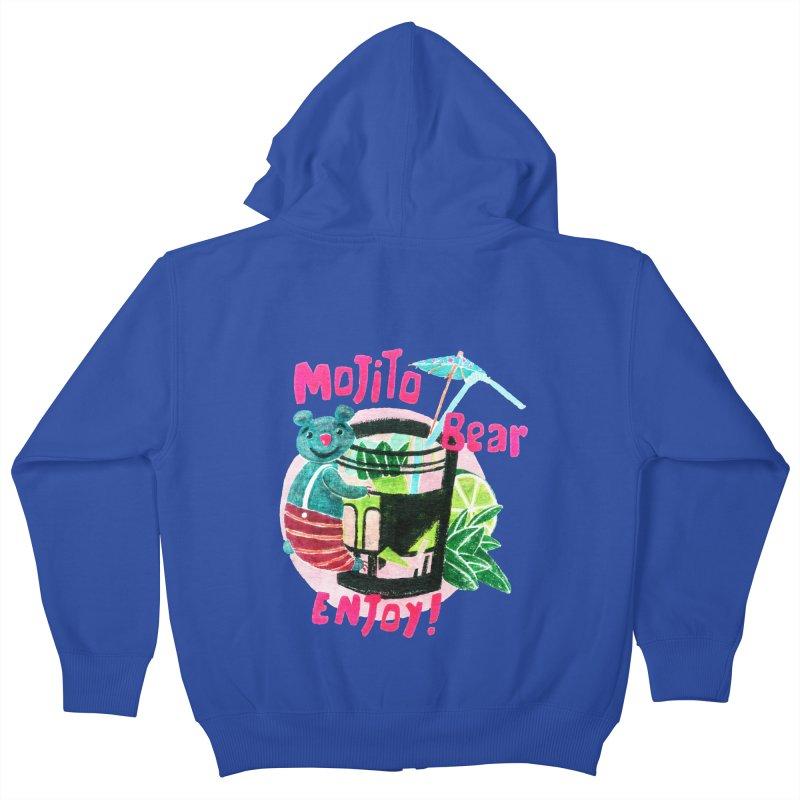 Mojito bear Kids Zip-Up Hoody by Bottone magliette