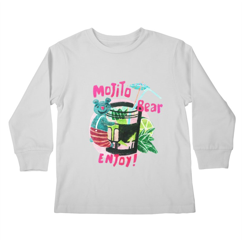 Mojito bear Kids Longsleeve T-Shirt by Bottone magliette