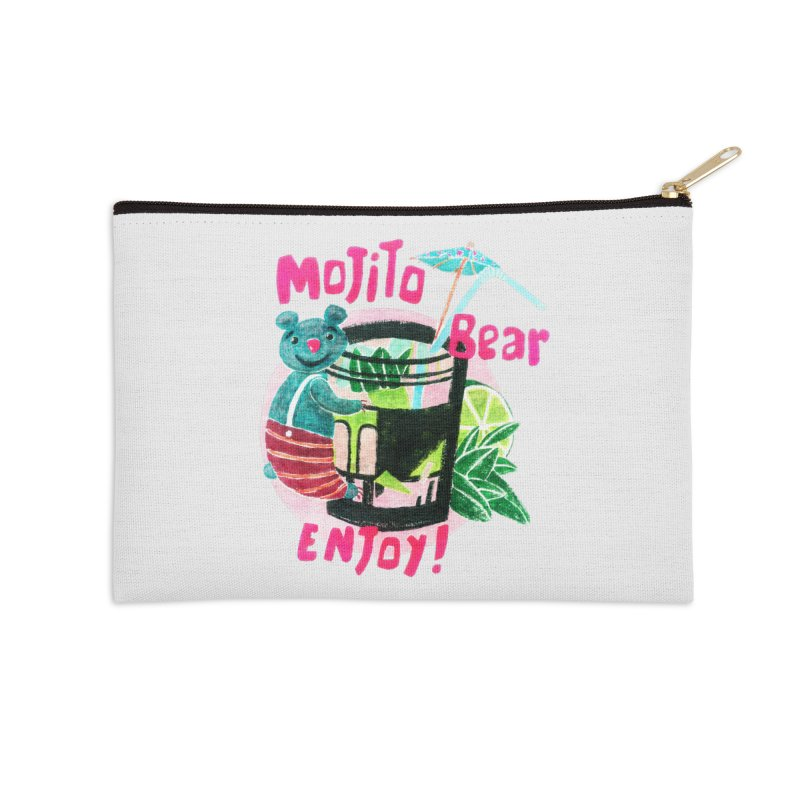 Mojito bear Accessories Zip Pouch by Bottone magliette
