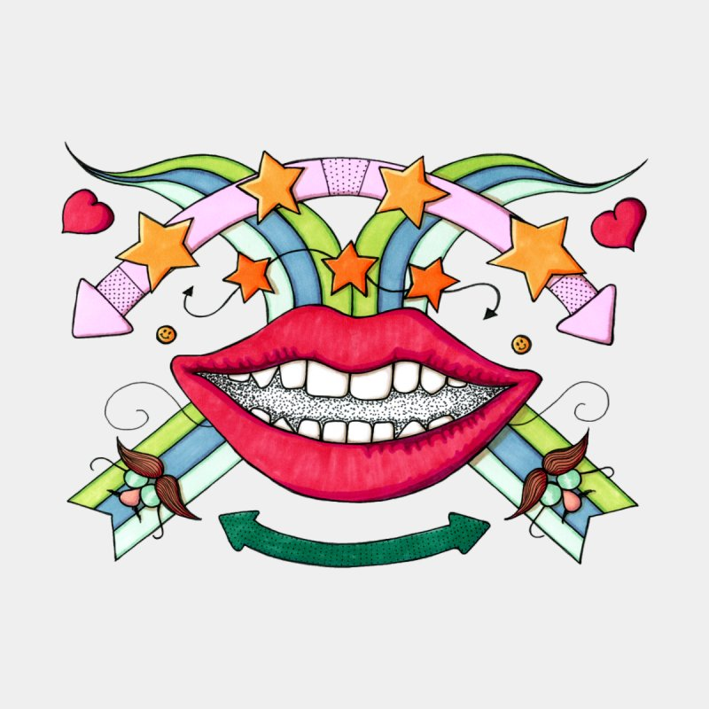 Psychedelic mouth by Bottone magliette