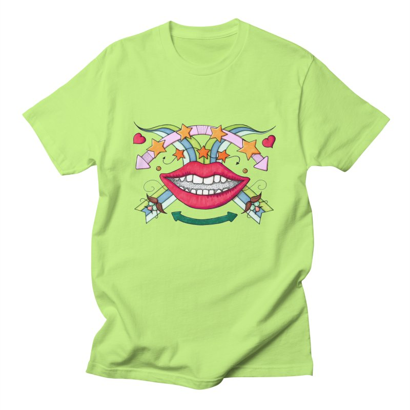 Psychedelic mouth Men's Regular T-Shirt by Bottone magliette