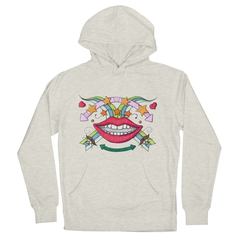 Psychedelic mouth Women's Pullover Hoody by Bottone magliette
