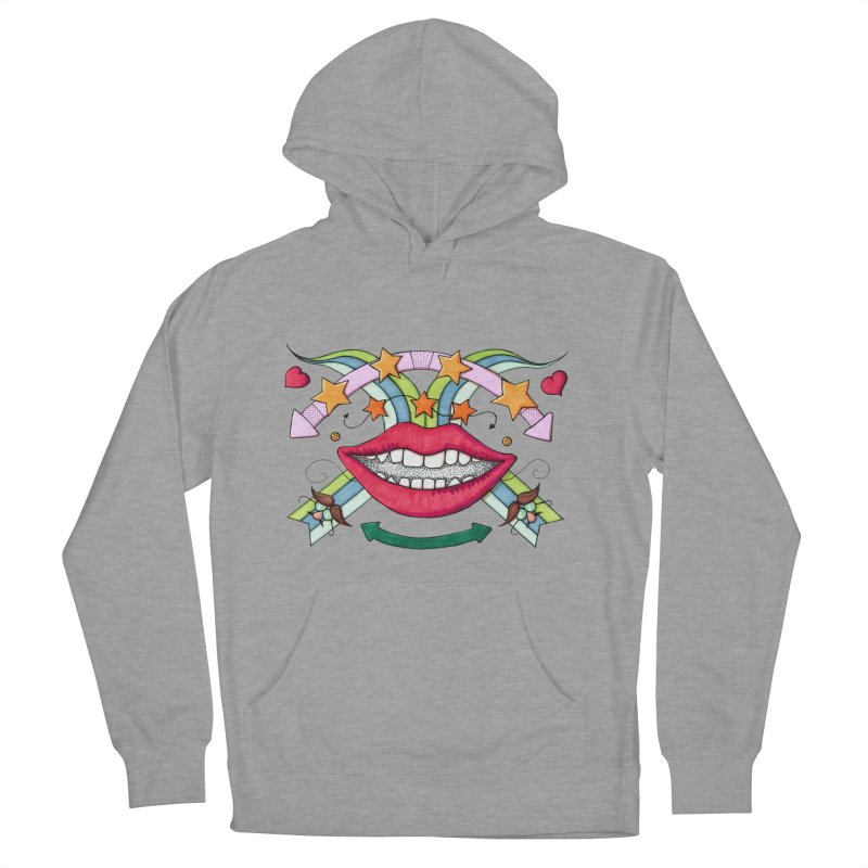 Psychedelic mouth Men's Pullover Hoody by Bottone magliette