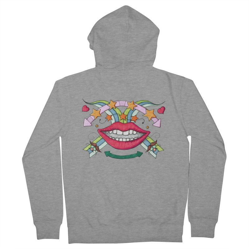 Psychedelic mouth Women's Zip-Up Hoody by Bottone magliette