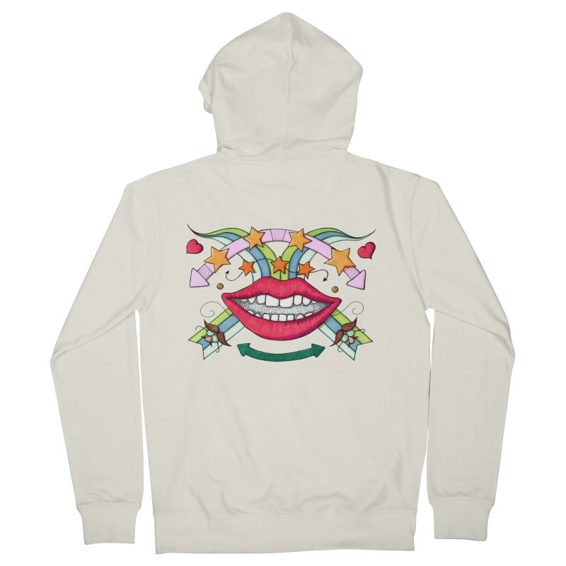 Psychedelic mouth Men's Zip-Up Hoody by Bottone magliette