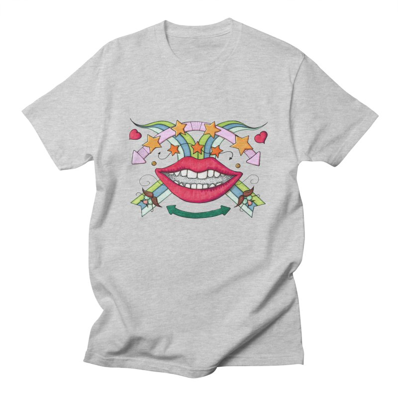 Psychedelic mouth Men's T-shirt by Bottone magliette
