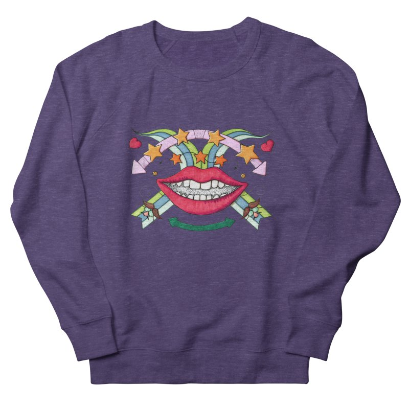 Psychedelic mouth Women's Sweatshirt by Bottone magliette