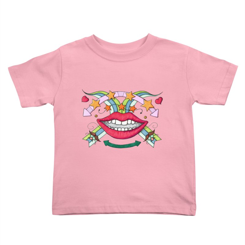 Psychedelic mouth Kids Toddler T-Shirt by Bottone magliette
