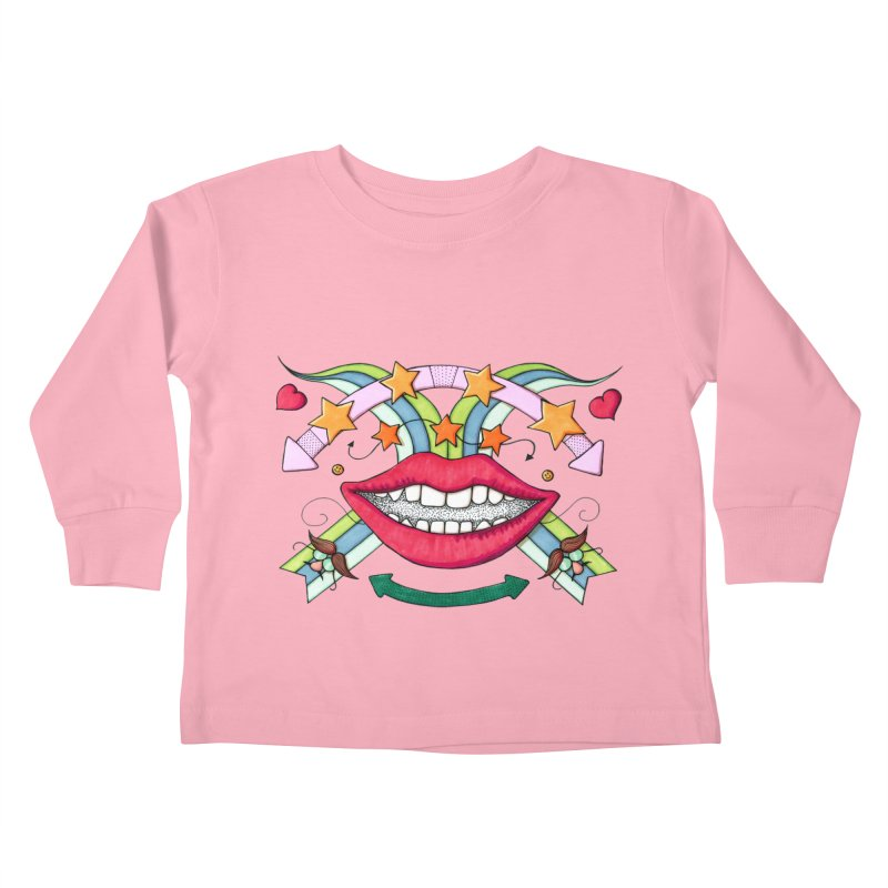 Psychedelic mouth Kids Toddler Longsleeve T-Shirt by Bottone magliette