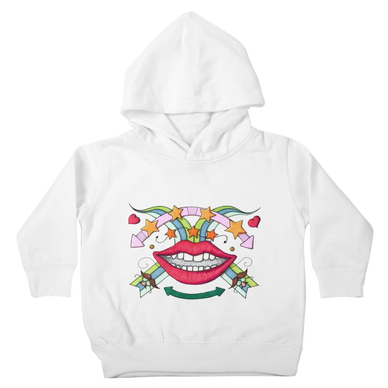 Psychedelic mouth Kids Toddler Pullover Hoody by Bottone magliette