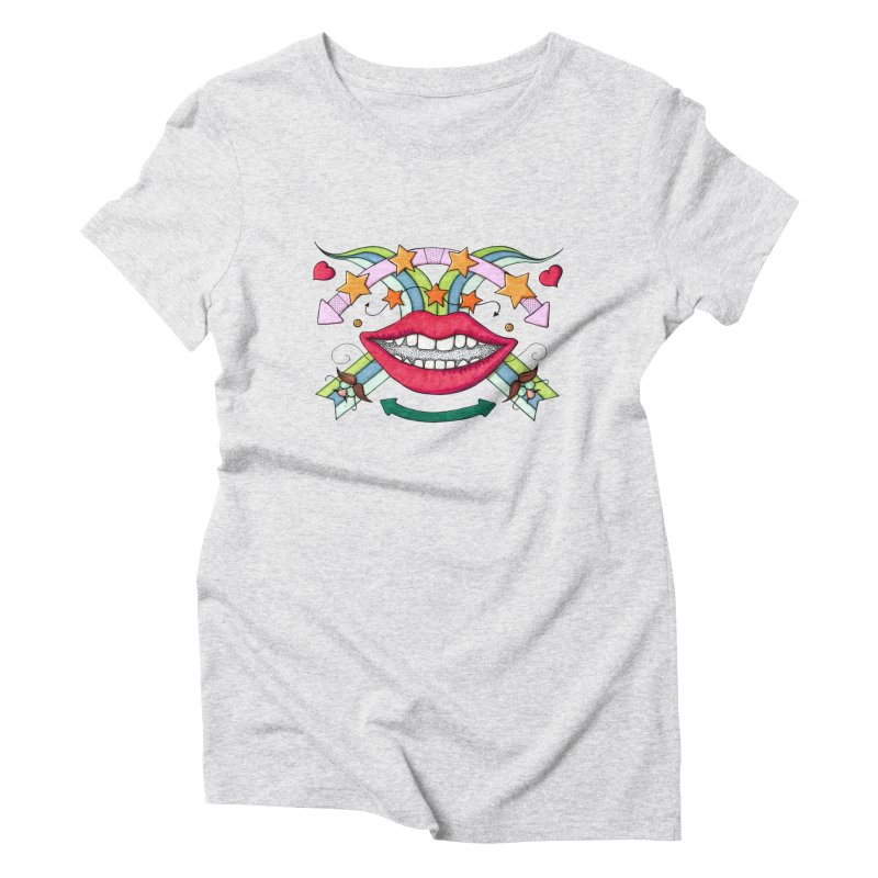 Psychedelic mouth Women's  by Bottone magliette