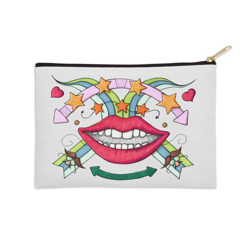 Psychedelic mouth Accessories Zip Pouch by Bottone magliette