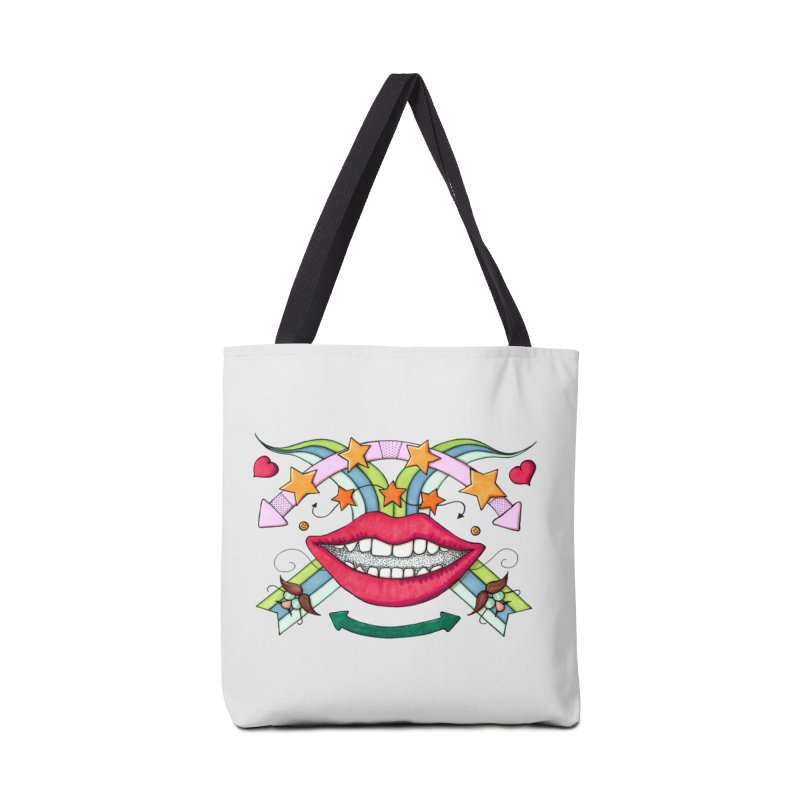 Psychedelic mouth Accessories Bag by Bottone magliette