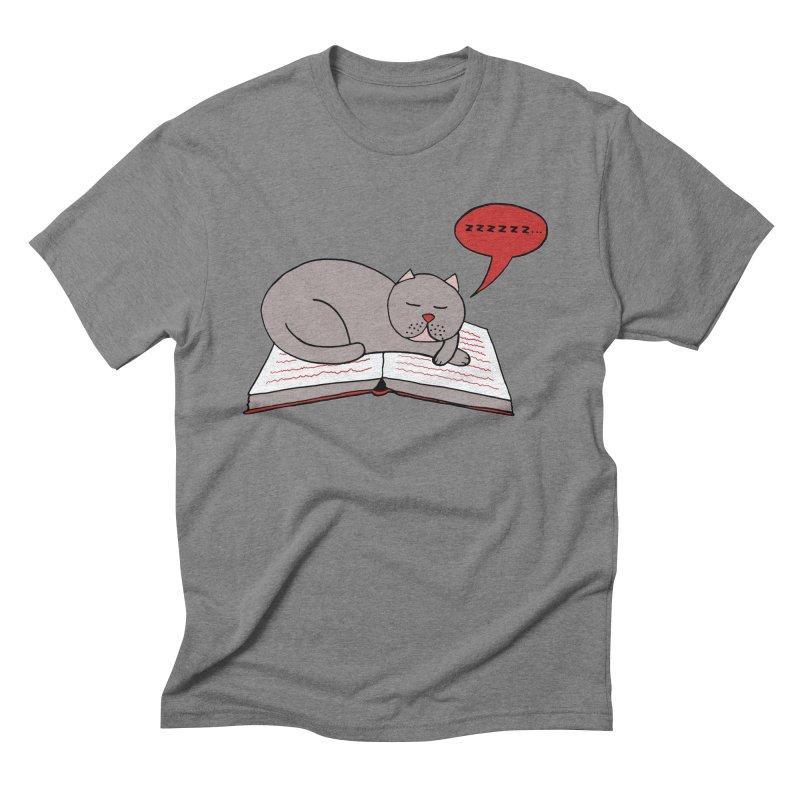 Malcolm the cat Men's Triblend T-shirt by Bottone magliette