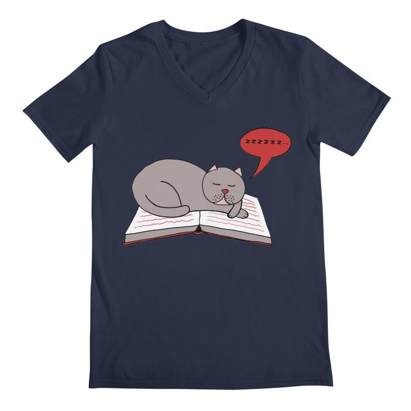 Malcolm the cat Men's V-Neck by Bottone magliette