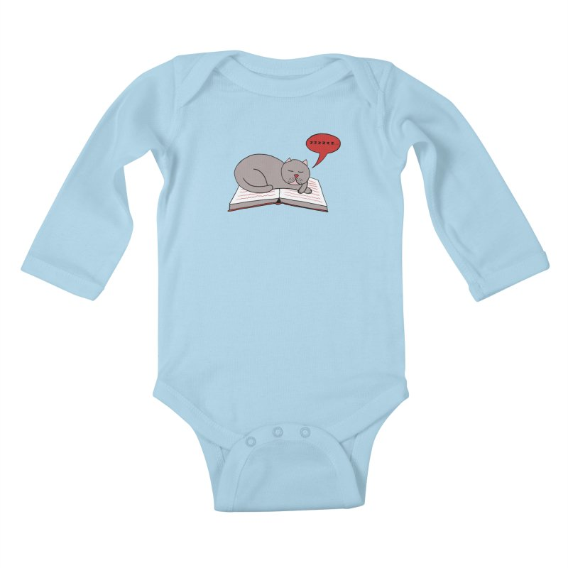 Malcolm the cat Kids Baby Longsleeve Bodysuit by Bottone magliette