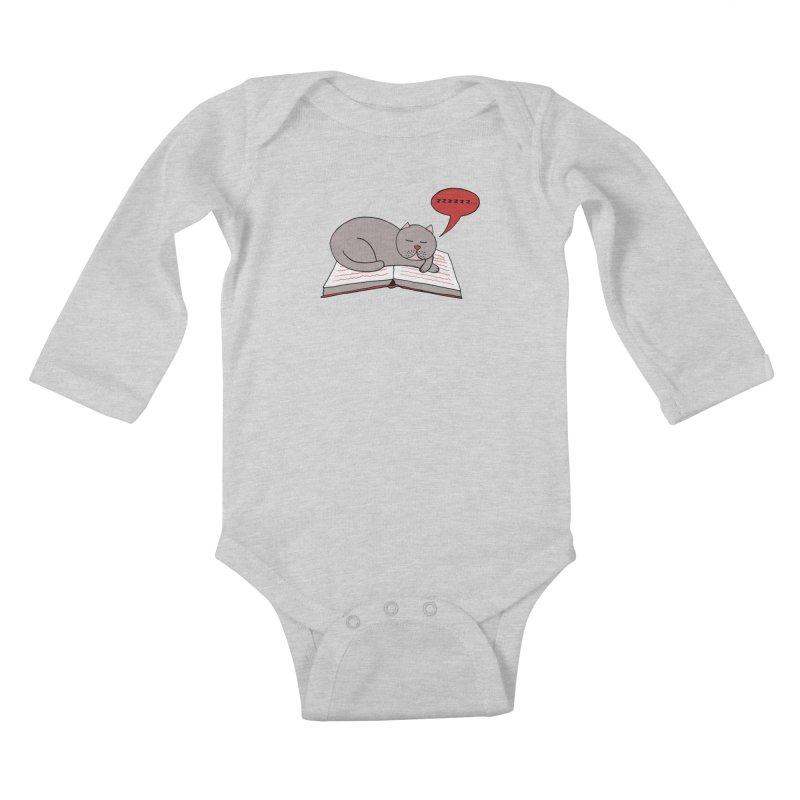 Malcolm the cat Kids Baby Longsleeve Bodysuit by Bottone magliette