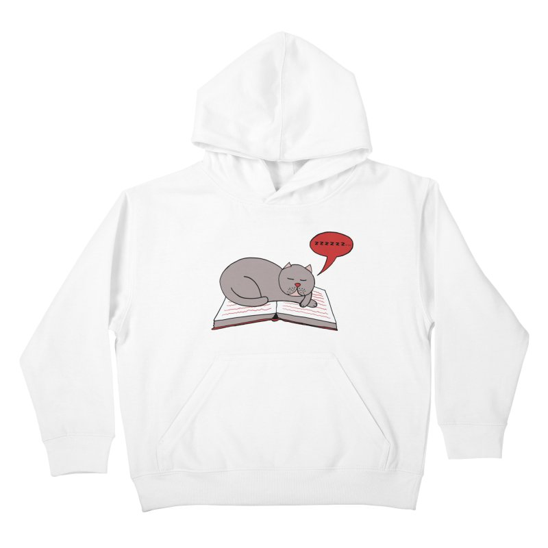 Malcolm the cat Kids Pullover Hoody by Bottone magliette