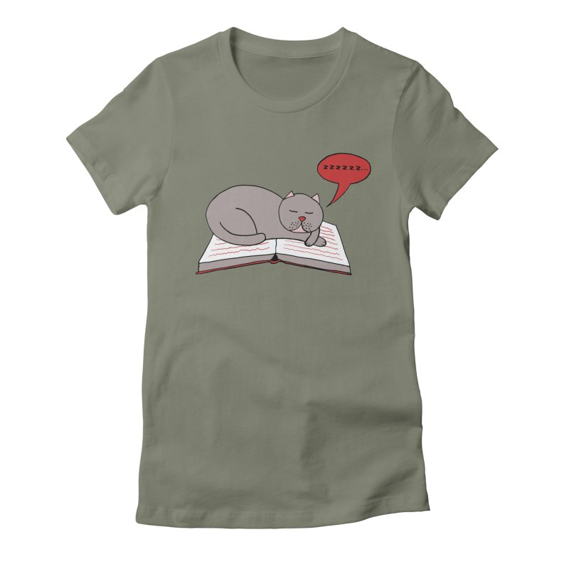 Malcolm the cat Women's Fitted T-Shirt by Bottone magliette