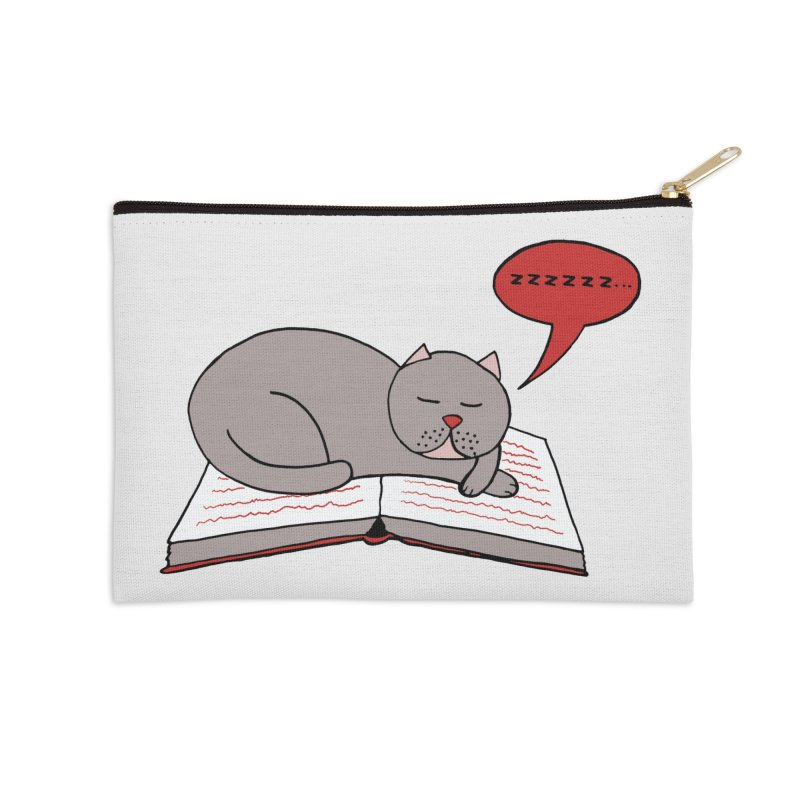 Malcolm the cat Accessories Zip Pouch by Bottone magliette