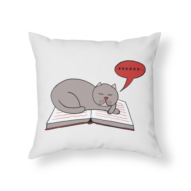 Malcolm the cat Home Throw Pillow by Bottone magliette