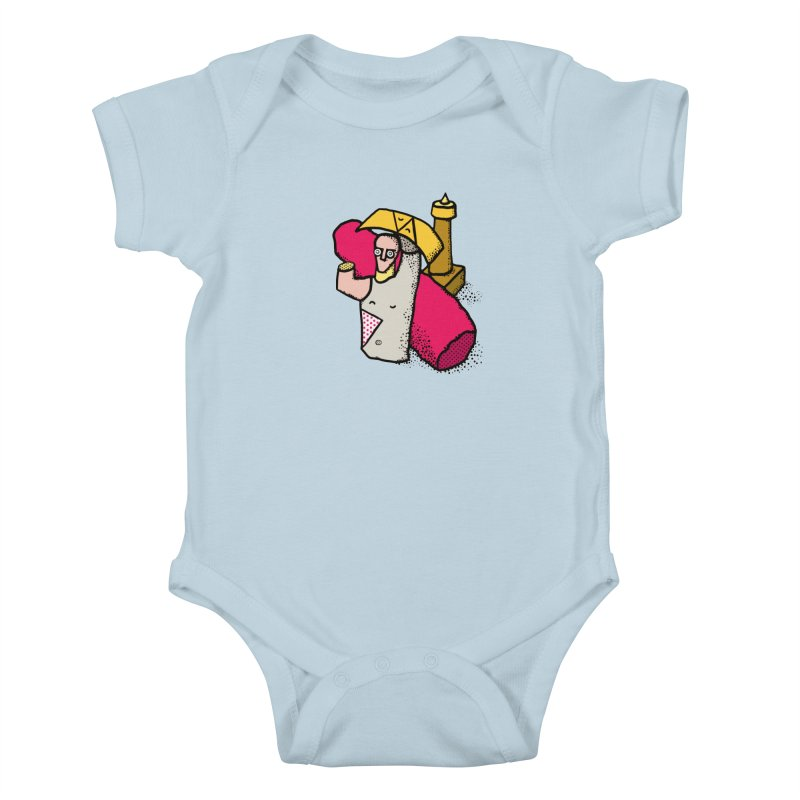 giant of mont'e prama Kids Baby Bodysuit by Bottone magliette