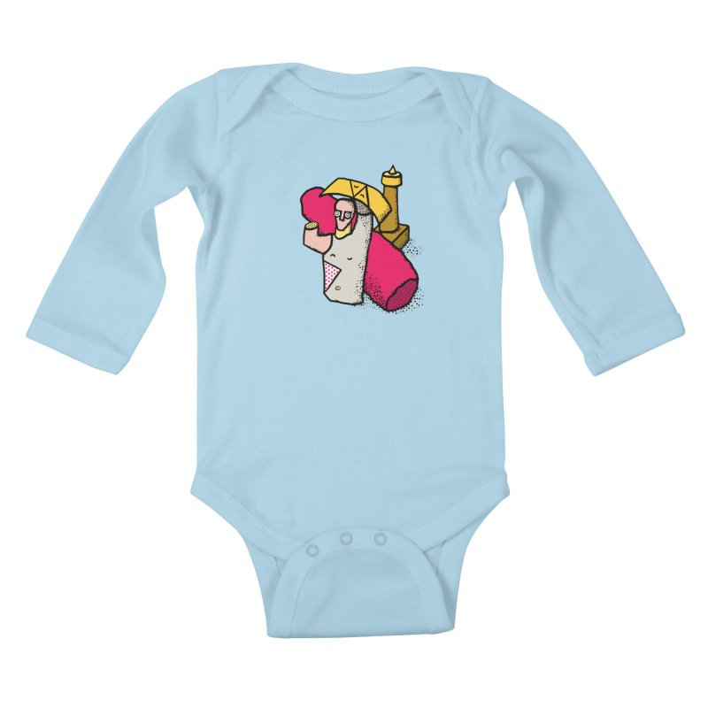 giant of mont'e prama Kids Baby Longsleeve Bodysuit by Bottone magliette