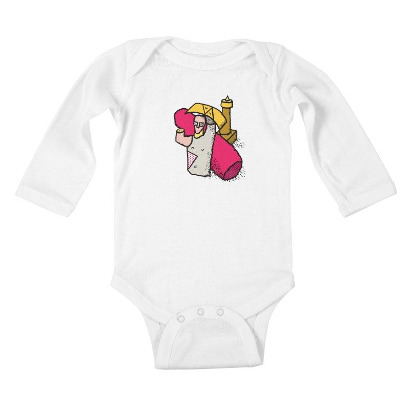 giant of mont'e prama Kids Baby Longsleeve Bodysuit by Bottone magliette