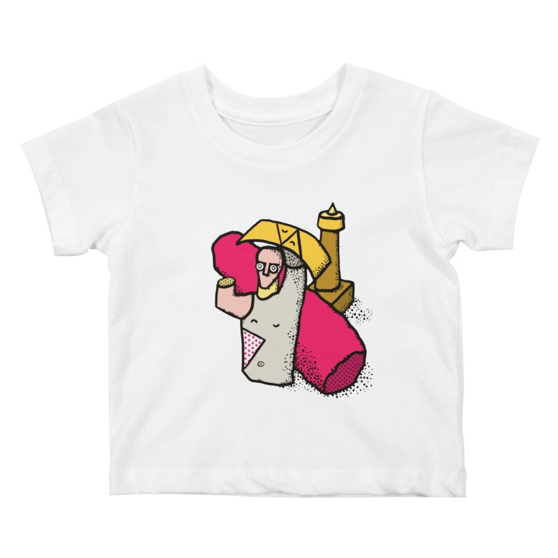 giant of mont'e prama Kids Baby T-Shirt by Bottone magliette