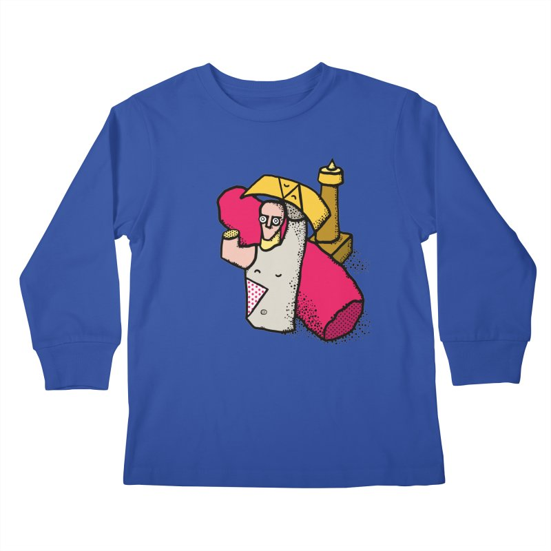 giant of mont'e prama Kids Longsleeve T-Shirt by Bottone magliette