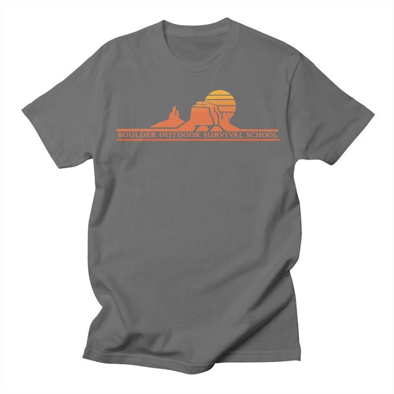 Boss Mesa Sunset Logo Men's T-Shirt by The Boulder Outdoor Survival School Store
