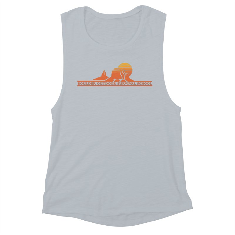 Boss Mesa Sunset Logo Women's Tank by The Boulder Outdoor Survival School Store