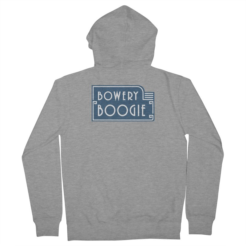 "Boogie ""Flophouse"" Sign Women's French Terry Zip-Up Hoody by Bowery Boogie Merch Shop"