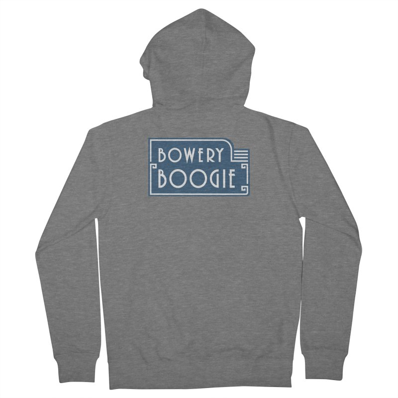 """Boogie """"Flophouse"""" Sign Men's French Terry Zip-Up Hoody by Bowery Boogie Merch Shop"""