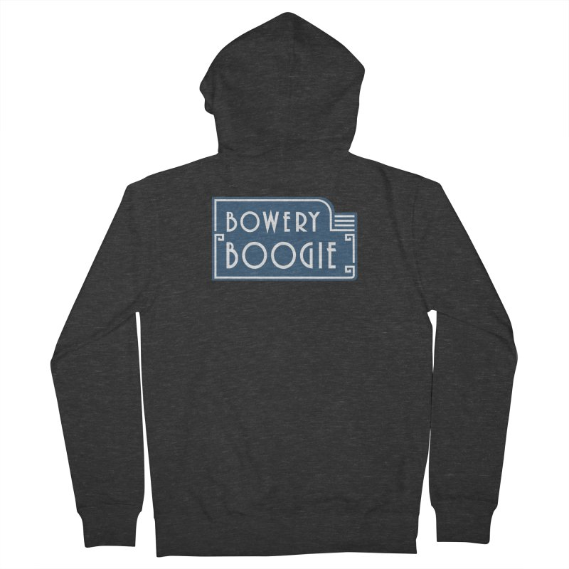 "Boogie ""Flophouse"" Sign Men's French Terry Zip-Up Hoody by Bowery Boogie Merch Shop"