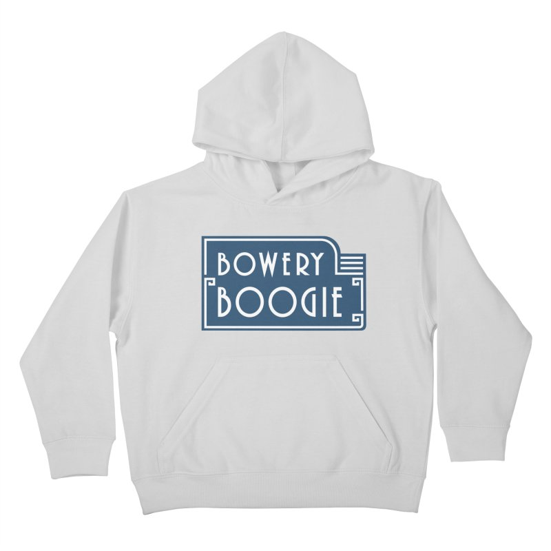 "Boogie ""Flophouse"" Sign Kids Pullover Hoody by Bowery Boogie Merch Shop"